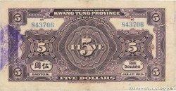 5 Dollars CHINE  1918 PS.2402b TB
