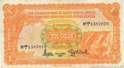 1 Pound AFRIQUE DU SUD OUEST  1959 P.011 pr.TTB