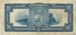 1 Dollar TERRE-NEUVE  1920 P.A14b B+