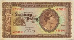 20 Frang LUXEMBOURG  1943 P.42 TB
