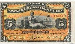5 Pesos CUBA  1896 P.048b pr.NEUF