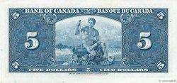 5 Dollars CANADA  1937 P.060c SUP+