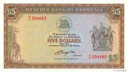 5 Dollars RHODESIA  1978 P.36b UNC