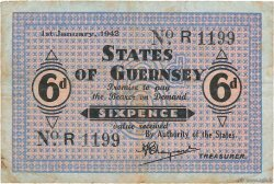 6 Pence GUERNESEY  1942 P.24 TB