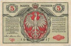 5 Marek POLOGNE  1917 P.010 TB+