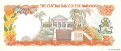 5 Dollars BAHAMAS  1974 P.37b pr.SUP
