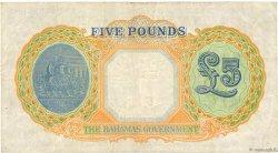 5 Pounds BAHAMAS  1936 P.12b TB