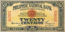 20 Centavos PHILIPPINES  1917 P.040 TTB