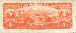 1 Peso GUATEMALA  1914 PS.111b TTB