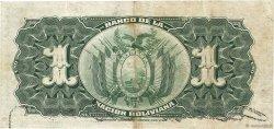 1 Boliviano BOLIVIE  1911 P.102a TTB