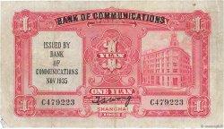 1 Yüan CHINE  1935 P.0152 TB