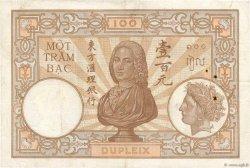 100 Piastres INDOCHINE FRANÇAISE  1936 P.051d TB+