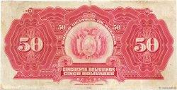 50 Bolivianos BOLIVIE  1928 P.123 TB