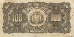100 Bolivianos BOLIVIE  1928 P.125 pr.TB