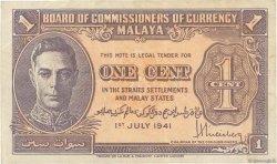 1 Cent MALAYA  1941 P.06 TTB