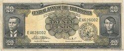 20 Pesos PHILIPPINES  1949 P.137e TB