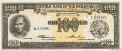 100 Pesos PHILIPPINES  1949 P.139a pr.NEUF