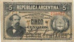 5 Centavos ARGENTINE  1884 P.005 TB
