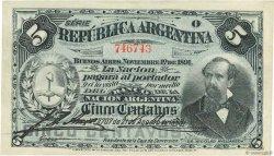 5 Centavos ARGENTINE  1891 P.209 SPL
