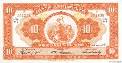 10 Soles PÉROU  1956 P.077 SUP+