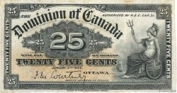 25 Cents CANADA  1900 P.009a TB