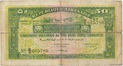 50 Piastres LIBAN  1942 P.37 B+
