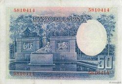 50 Pesetas ESPAGNE  1935 P.088 TTB