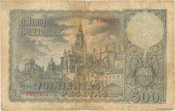 500 Pesetas ESPAGNE  1940 P.124 pr.TB