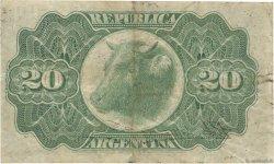 20 Centavos ARGENTINE  1891 P.211b TB