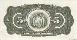 5 Bolivianos BOLIVIE  1928 P.120a pr.SPL
