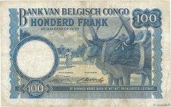 100 Francs CONGO BELGE  1951 P.17d TB