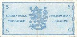 5 Markkaa FINLANDE  1963 P.103a pr.TTB
