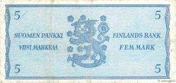 5 Markkaa FINLANDE  1963 P.103a TB+