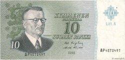 10 Markkaa FINLANDE  1963 P.104a TTB