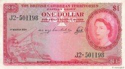 1 Dollar CARAÏBES  1954 P.07b TTB