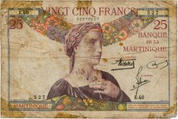 25 Francs  MARTINIQUE  1938 P.12 B