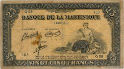 25 Francs MARTINIQUE  1945 P.17 B