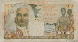 100 Francs La Bourdonnais MARTINIQUE  1946 P.31a TB