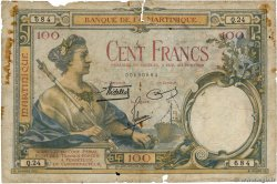 100 Francs MARTINIQUE  1938 P.13 AB