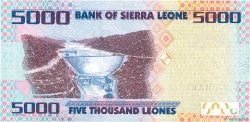 5000 Leones SIERRA LEONE  2010 P.32 NEUF