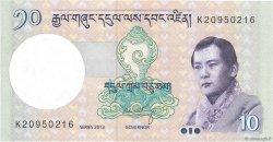 10 Ngultrum BHUTAN  2013 P.29b UNC