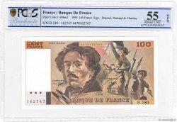 100 Francs DELACROIX imprimé en continu FRANCIA  1990 F.69bis.02d AU