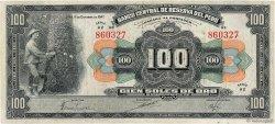 100 Soles PÉROU  1947 P.069Aa TTB