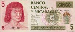 5 Cordobas NICARAGUA  1991 P.174 NEUF