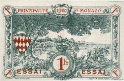 1 Franc MONACO  1920 P.05s NEUF