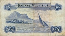5 Rupees Remplacement ÎLE MAURICE  1967 P.30cr TB+