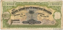 10 Shillings AFRIQUE OCCIDENTALE BRITANNIQUE  1941 P.07b pr.TB