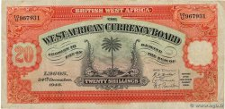 20 Shillings AFRIQUE OCCIDENTALE BRITANNIQUE  1948 P.08b TB+