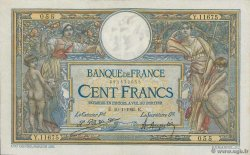 100 Francs LUC OLIVIER MERSON grands cartouches FRANCE  1925 F.24.03 TTB+
