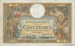 100 Francs LUC OLIVIER MERSON grands cartouches FRANCE  1925 F.24.03 TTB